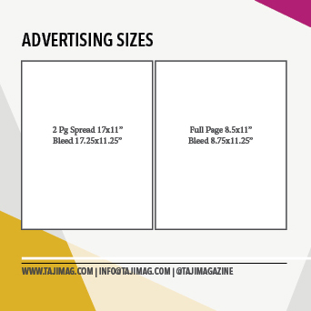 Advertising with Taji Mag