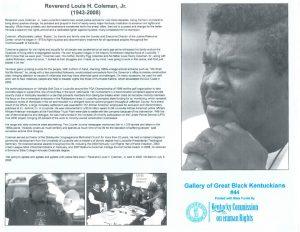 Rev Louis Coleman